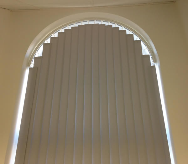 Arch Shaped Vertical Blind 2 Murphys Blinds